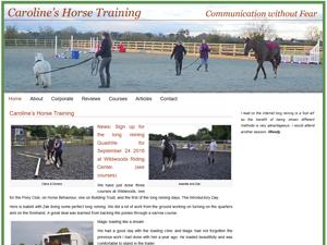 Caroline's Horse Training